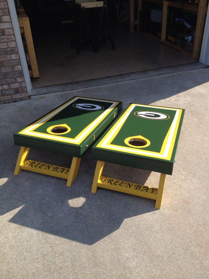 Green Bay Packers Cornhole Boards Cornhole Boards Cornhole Designs Cornhole