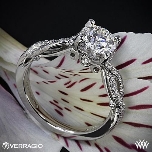 Verragio 4 Prong Twisted Shank Diamond Engagement Ring with a 1.248ct A CUT ABOVE