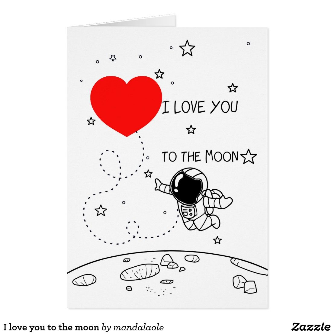 I love you to the moon cards love cards moon gifts