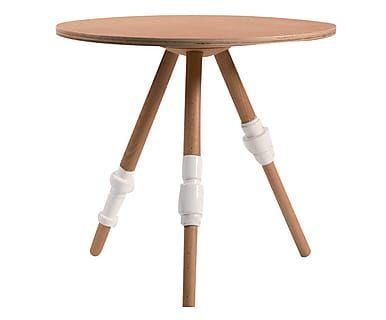 Tavolino in faggio e porcellana turn - 45x50 cm
