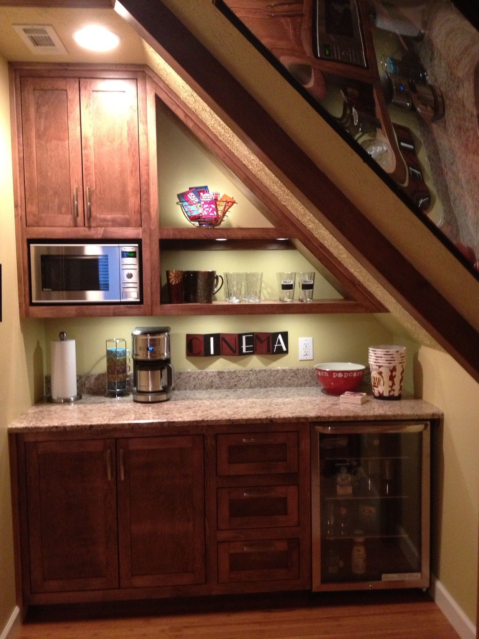 Small bonus room decorating ideas - This Used To Be A Closet In Our Bonus Room Above The Garage Now It S