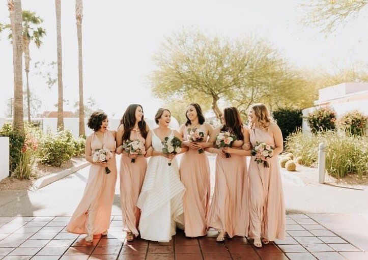 Blush Bridesmaid Dresses, Blush