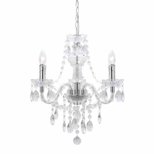 Mercator olinda 3 light pendant e14 3x 40 watt clear mitre 10