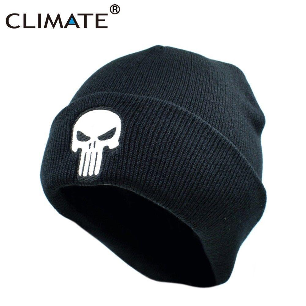 The Punisher Skulls Winter Warm Beanie Hat Fashion Cotton Warm Skullies Beanies Beanie Hat Fashion Hats For Men Mens Beanie