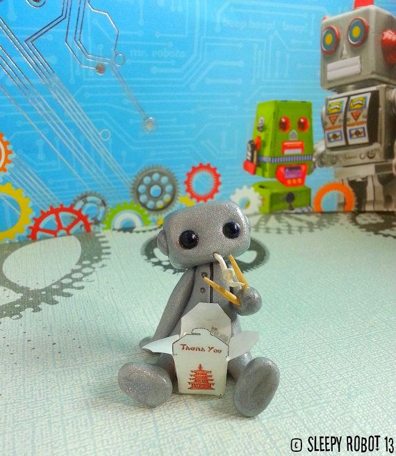Chinese Take Out Robot ON SALE by sleepyrobot13 on Etsy