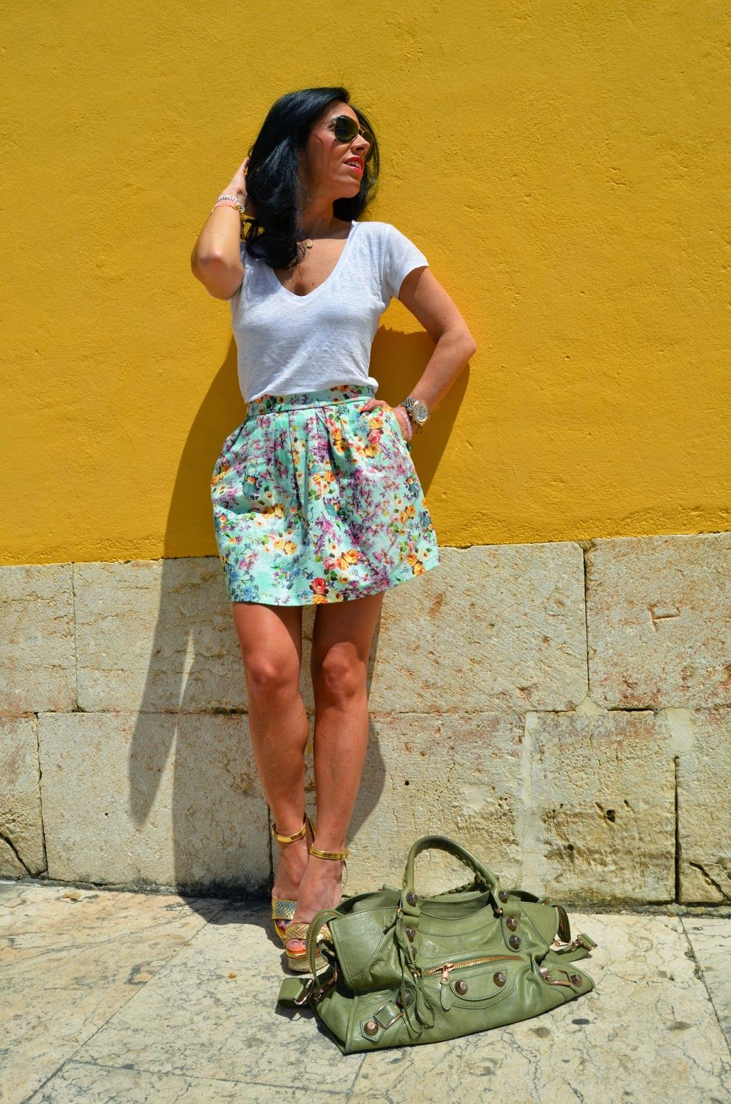 skirt flowers...