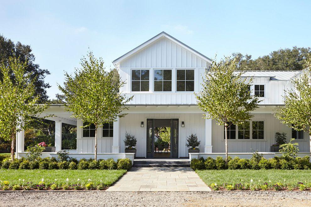 Farmhouse Landscape Pictures Exterior Contemporary With Interior Design