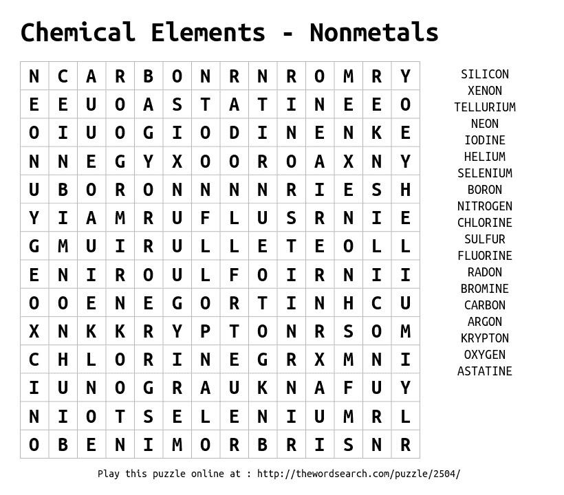 Play word search puzzles on-line, including this one. More