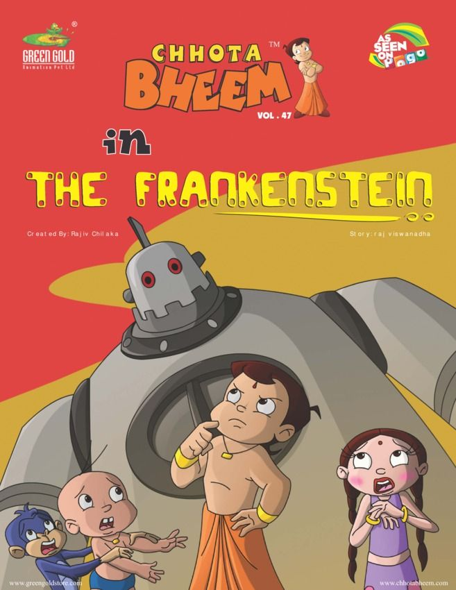 Chhota Bheem Vol 47- The Frankenstein edition - Read the digital - best of chhota bheem coloring pages games