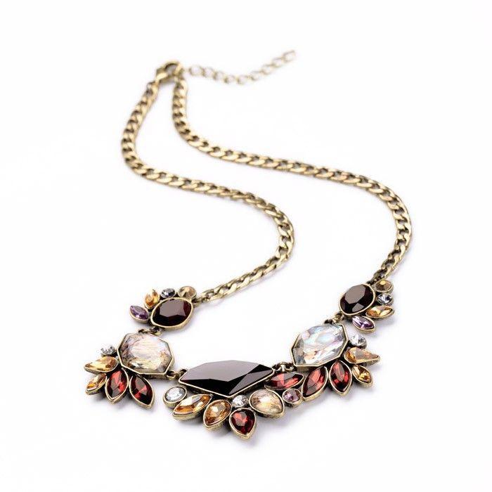 Elegant Gold Chain Rhinestone Necklace