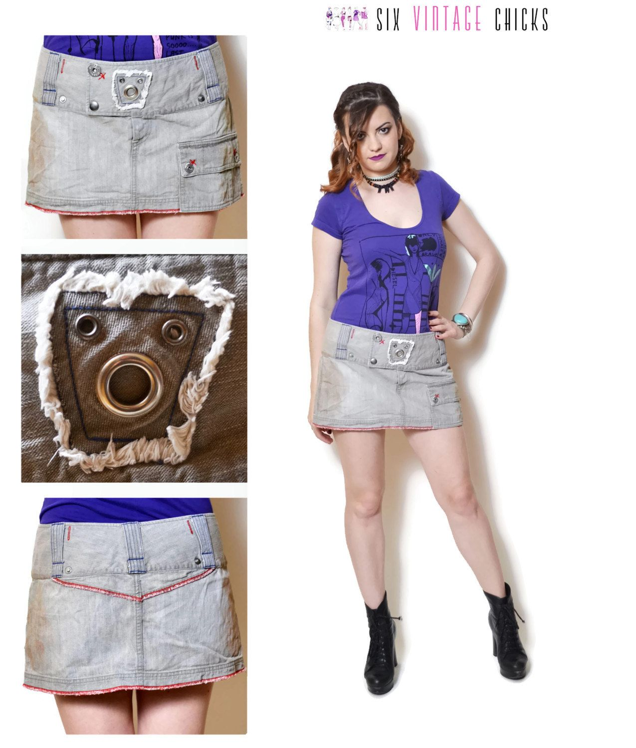 90s jean skirt grey denim skirts low rise jeans fitted tight ...