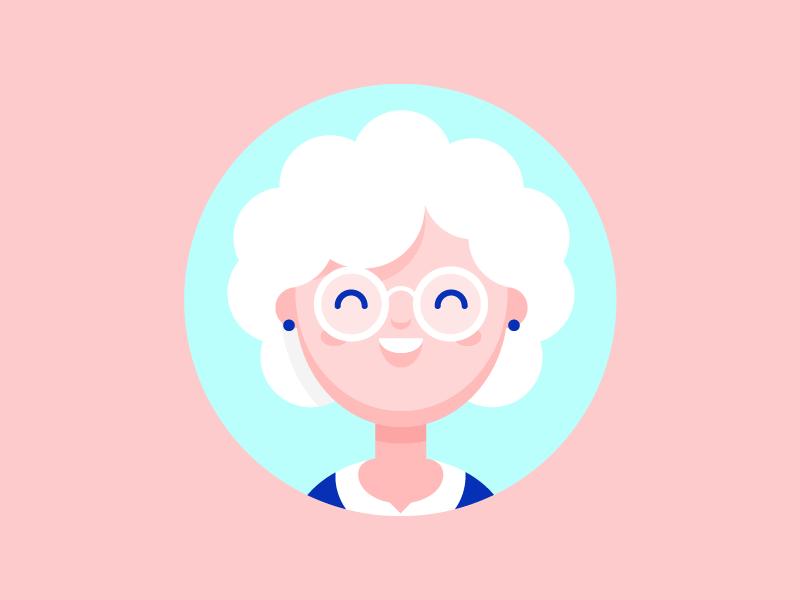 Grandma By Vincent Tantardini Twitter Source Graphic Design Blog Illustration Character Design Cartoon Character Design