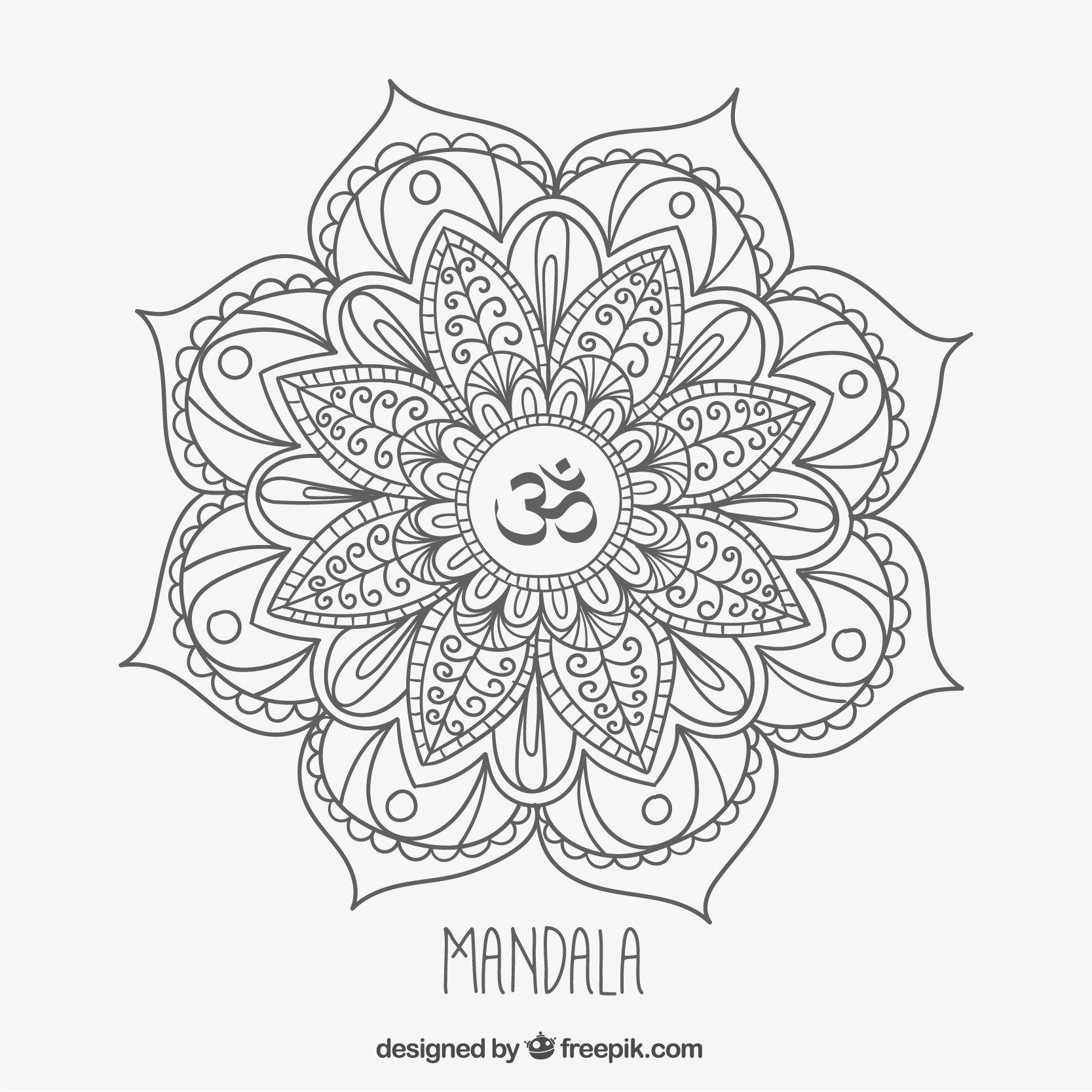 Mandala Monday Free Om Mandala To Color From Freepik Mandala