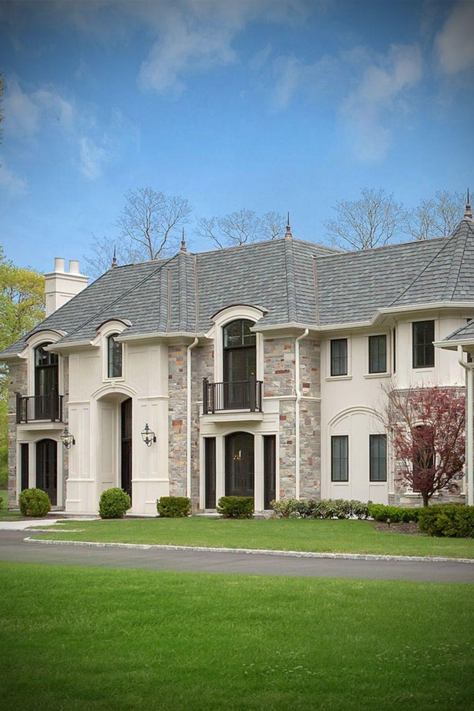 Modern Luxury Home Exterior Veneer Stone Facade Architecture Design In 2020 Facade Architecture Design Facade Architecture Luxury Homes Exterior