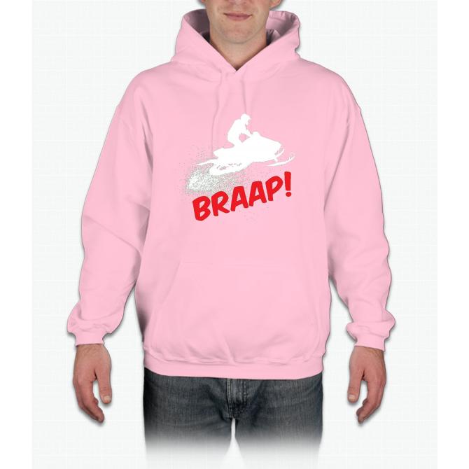 Brap Braap Braaap Snow Mobile Christmas T-Shirt Brapp Brappp Hoodie