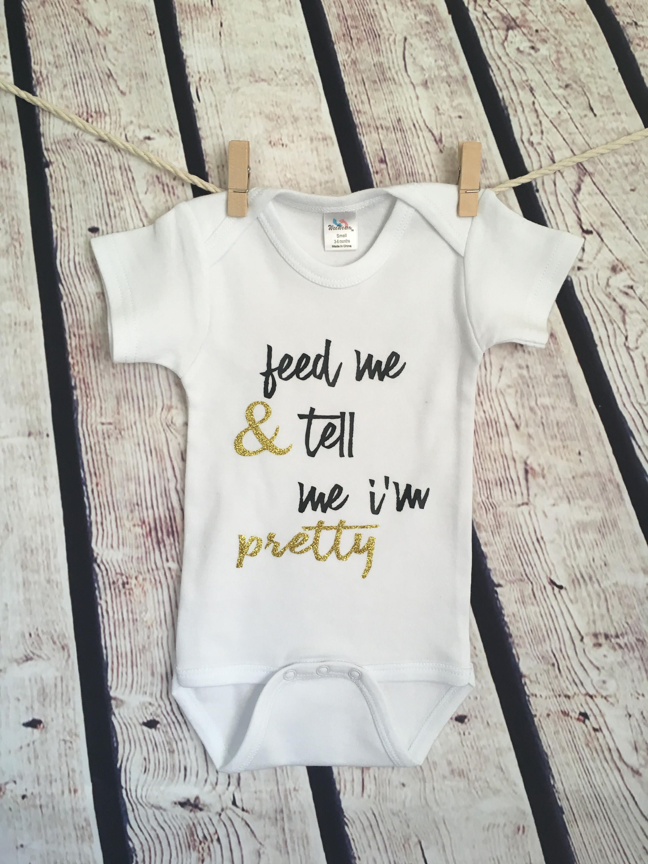 Personalised Baby Grow Vest Bodysuit Boys Girls Name Funny Baby Shower Gift 6