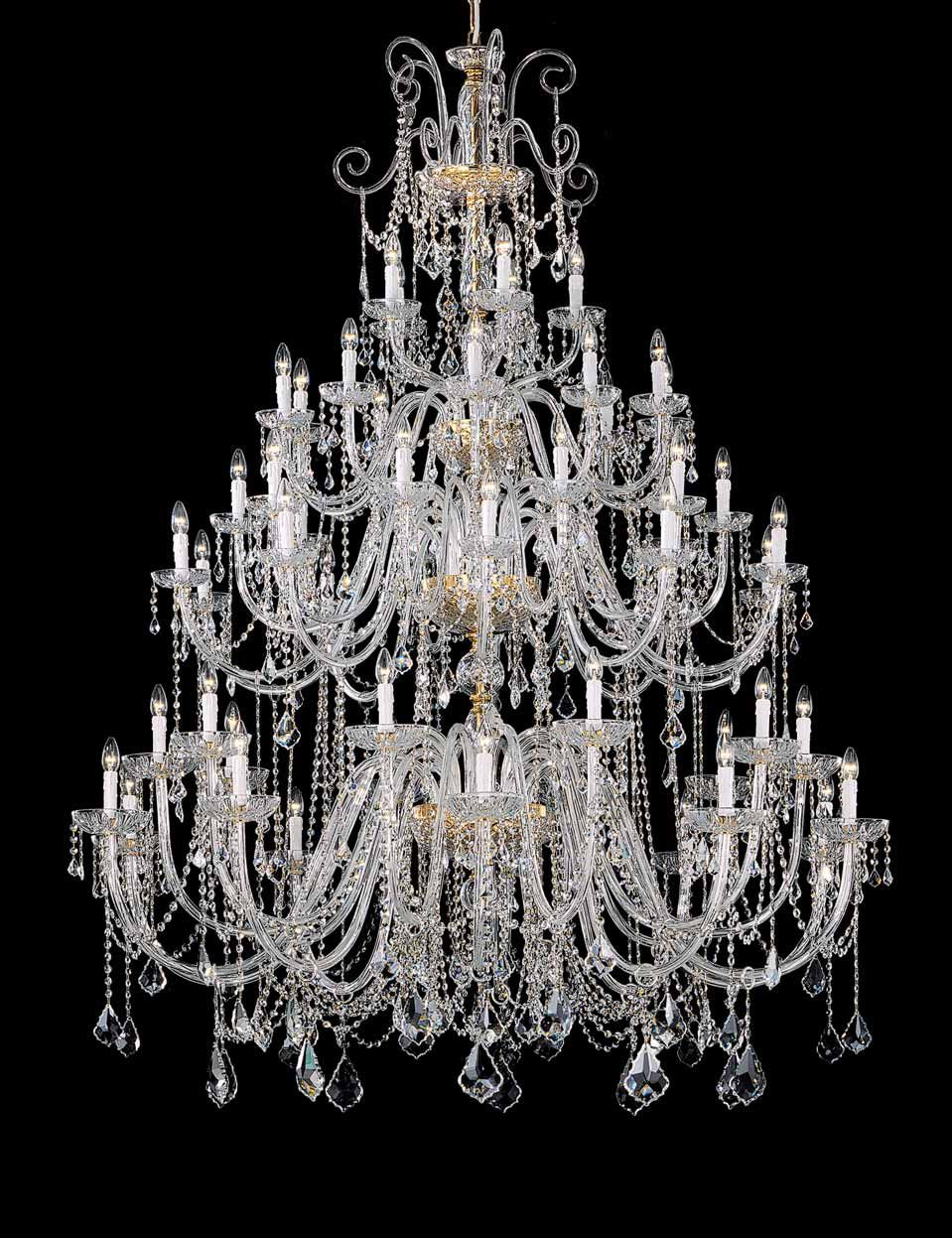 Topdomus Large Lead Crystal Chandelier With Artistic Hand And