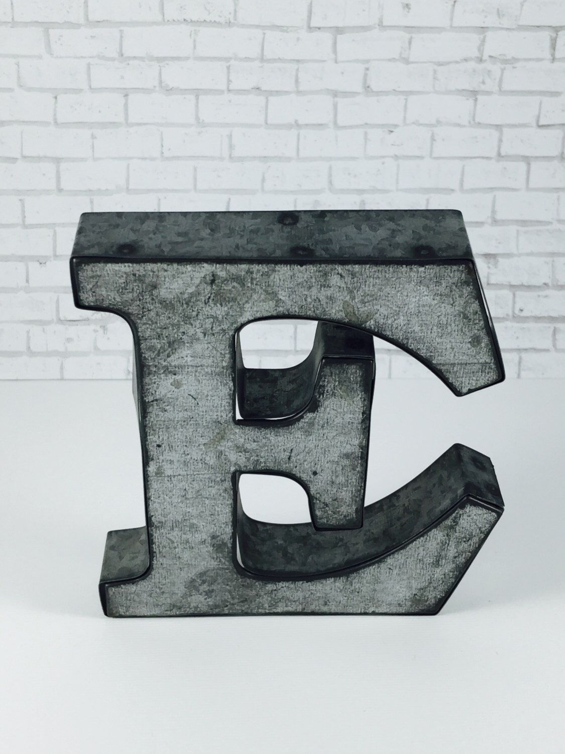 Galvanized Letter H On Salemetal Letterswall Decorgalvanized Metal Letterslove