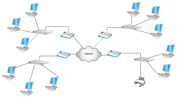 Network diagram templates network diagram examples at creately ccuart Images