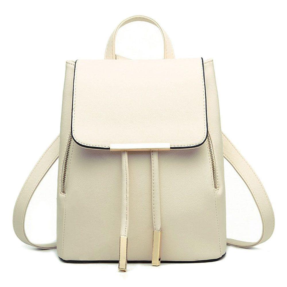 Women Backpack PU Leather Schoolbag Travel Shoulder Teenage Bag Rucksack Satchel