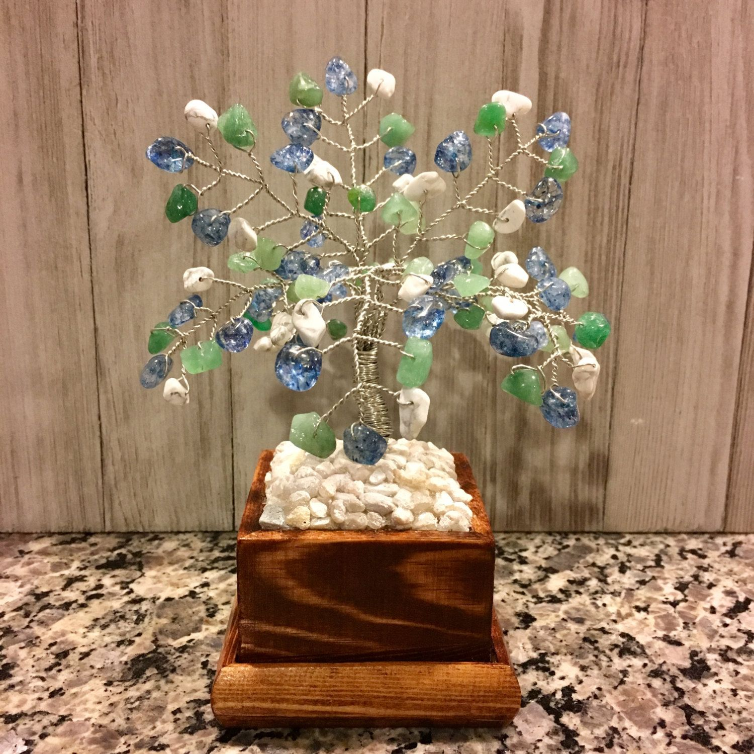 Crystal Gemstone Wire Bonsai Tree Of LifeTwisted Wire Art