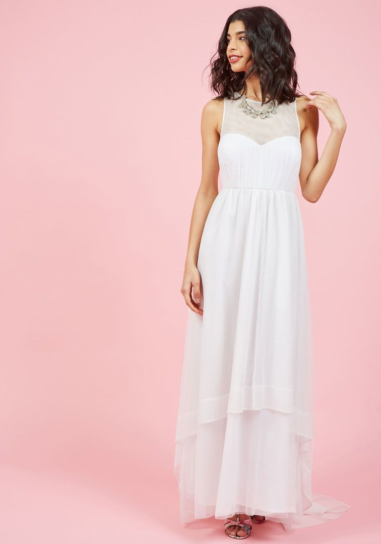 Flawlessly unforgettable maxi dress in white wedding dress summer