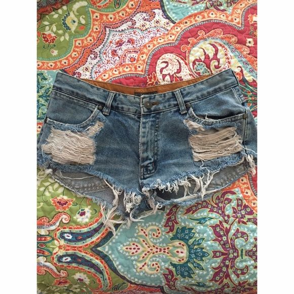 Jean Shorts cute lil jean shorts! fit great, just too short for me!  Brandy Melville Shorts Jean Shorts