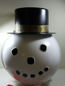 Shamrock Plastic Snowman Head Light Post Cover Lamp Lightpost