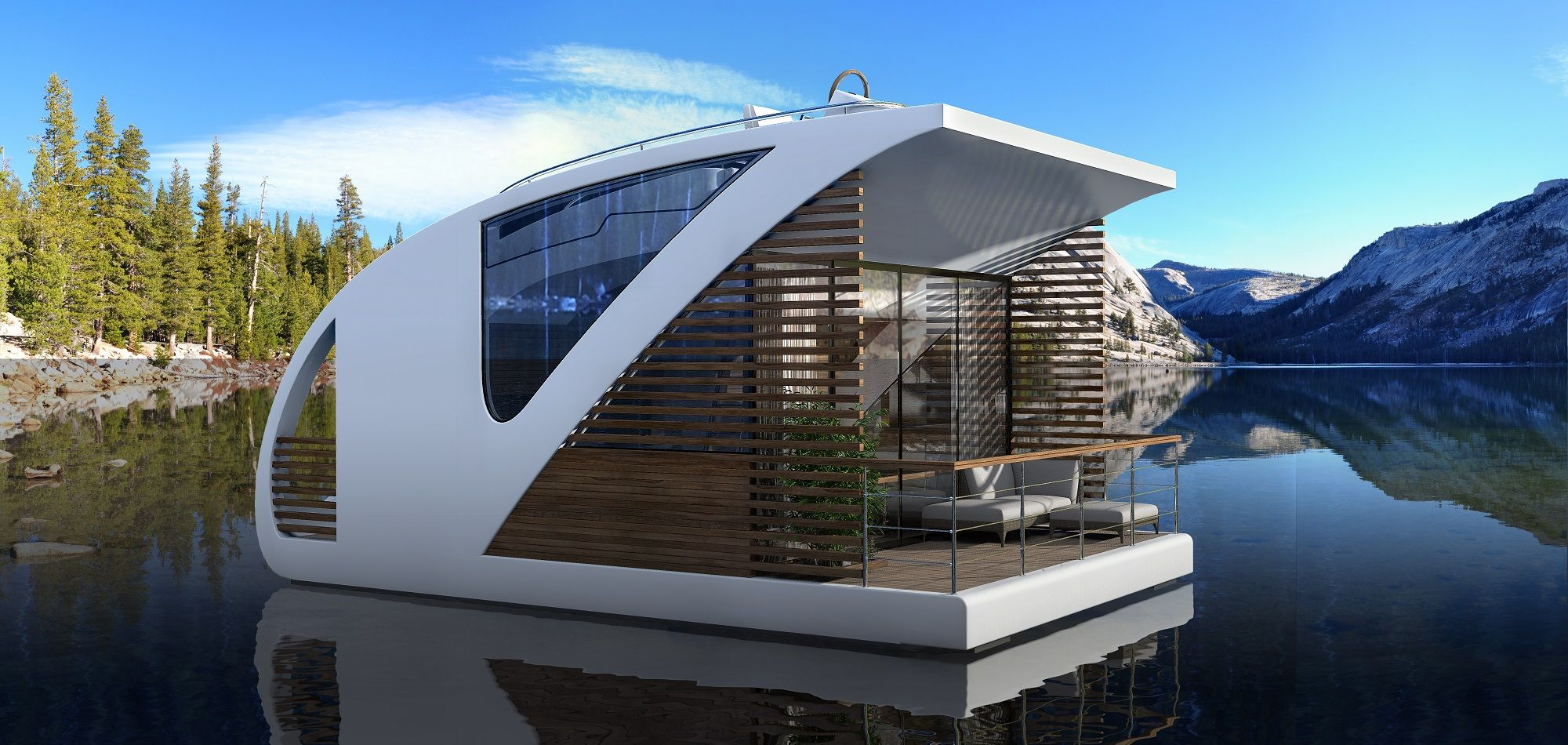 Floating Catamaran Hotels Are Perfect For A Low Impact Getaway Floating Hotel Floating House Hotel Concept