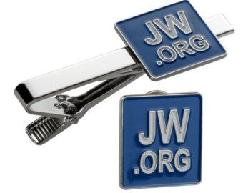 9746d046cd43 Jw.org Tie Clip And Lapel Pin Set Square With Gift by PONTITIES   jw ...