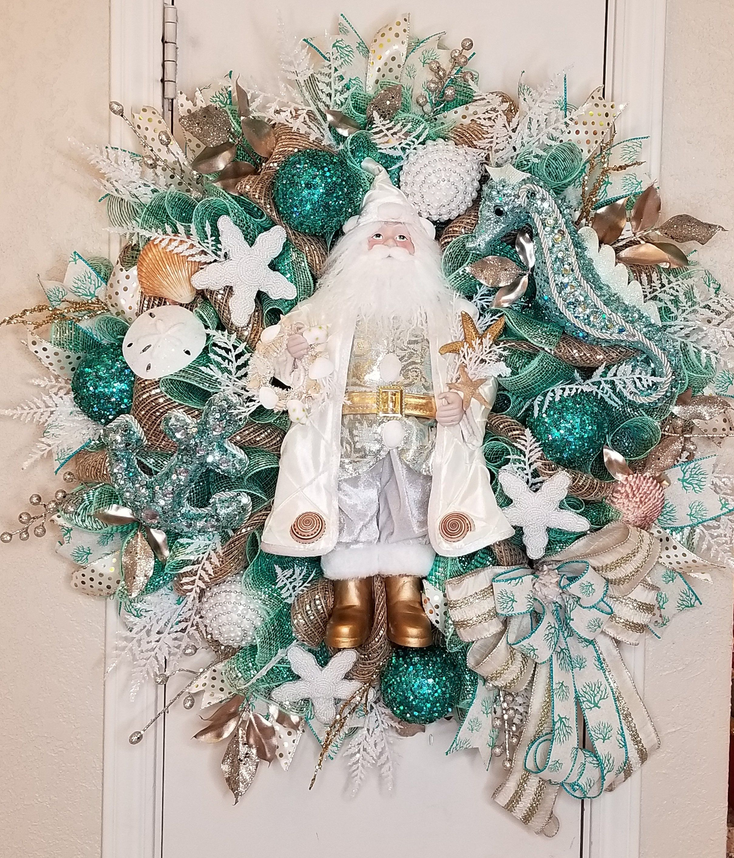 Nautical Christmas Wreath.Pin On South Tx Creations Christmas Picks