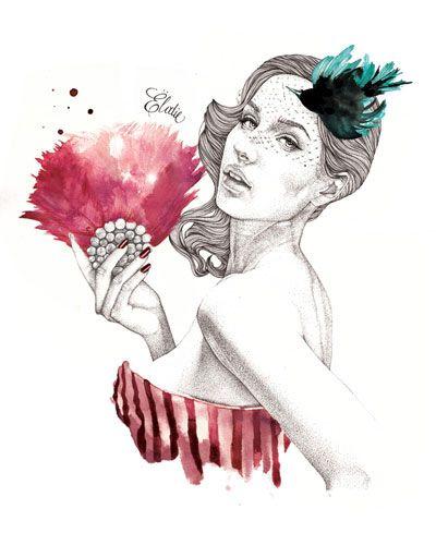 Extractos del Limbo: Ilustración de Moda por Elodie