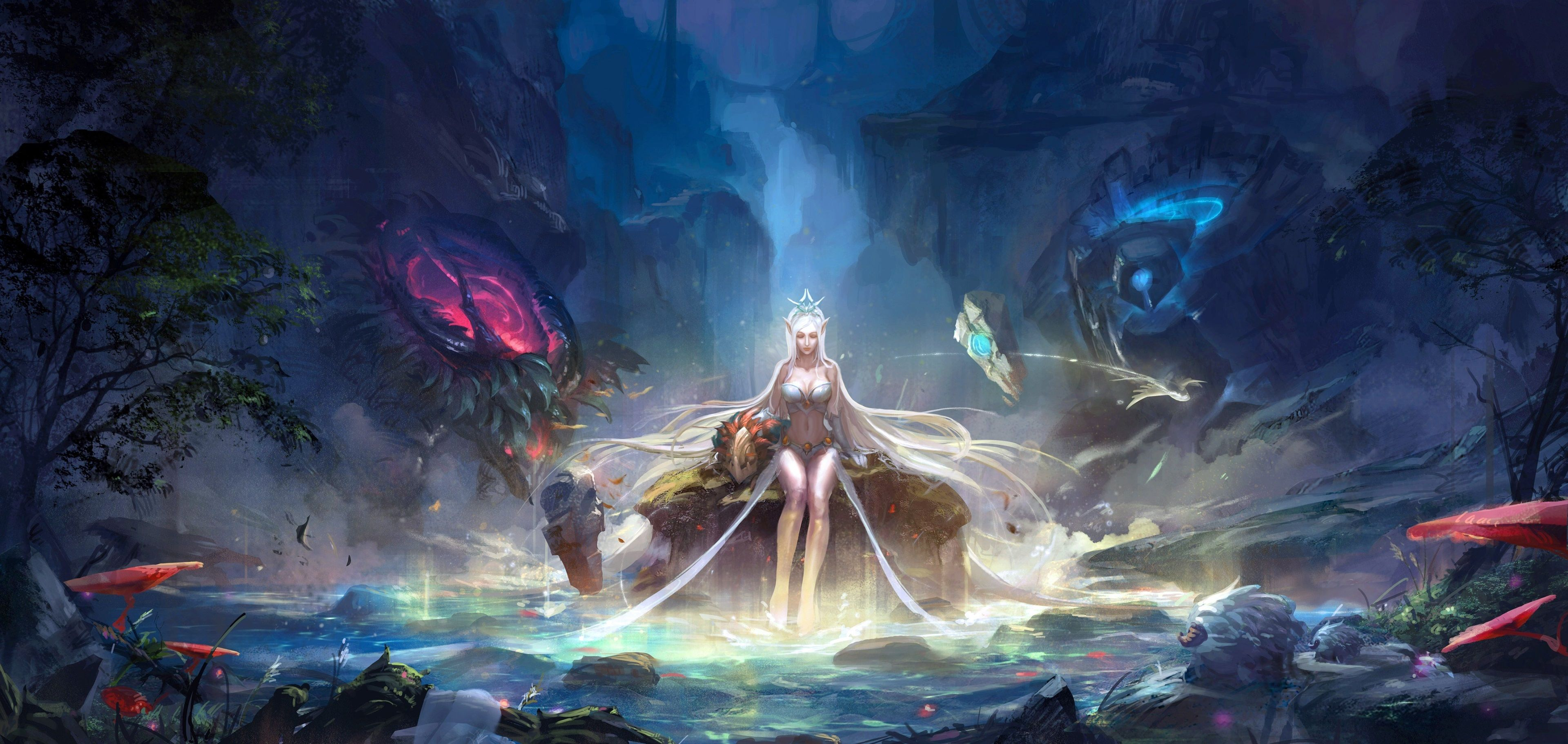 3840x1822 League Of Legends 4k Wallpapers For Computer Lol League Of Legends League Of Legends Fantasy Girl