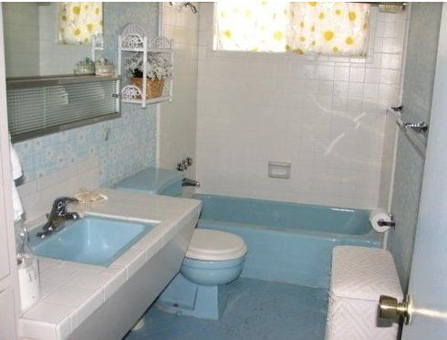 Scenes From 22 Blue Midcentury Bathrooms Mid Century Bathroom Blue Bathroom Retro Bathrooms