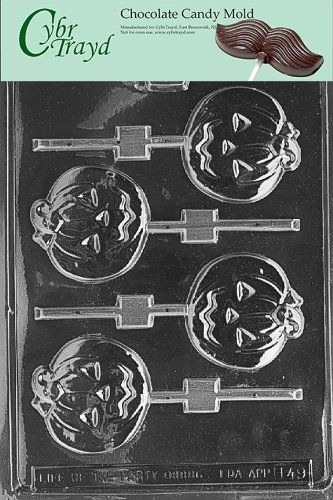 Cybrtrayd H049 Halloween Chocolate Candy Mold Medium Flat Pumpkin Lolly >>> Click image for more details.