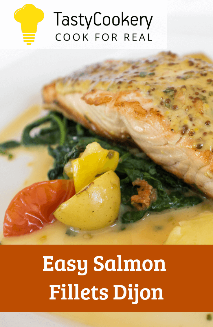 Easy Salmon Fillets Dijon Recipe Seafood Dinner Seafood Entrees Easy Chicken Recipes