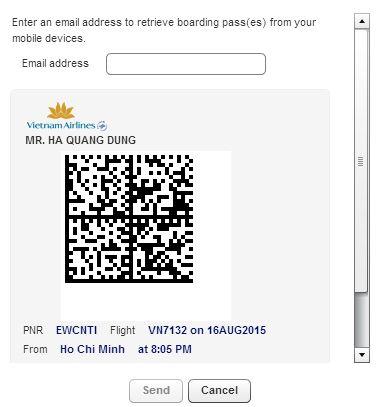 kiểm tra code vé vietnam airline
