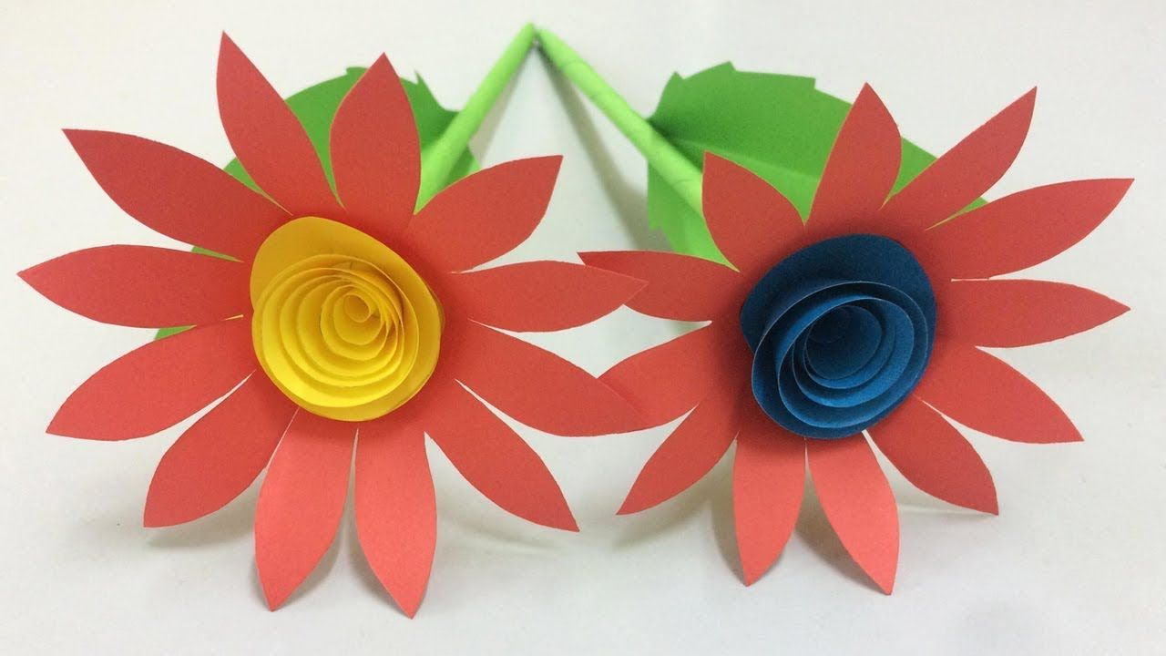 How To Make Beautiful Flower With Paper Making Paper Flowers Step By S Paper Flower Garlands Colour Paper Flowers Paper Flower Tutorial
