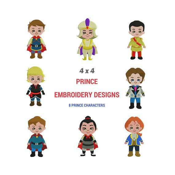 Prince Embroidery Design Disney Prince Embroidery Pattern Disney