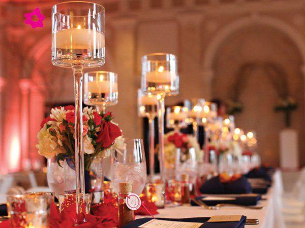 Centros de mesa para boda con velas en floreros velas - Arreglos con velas ...
