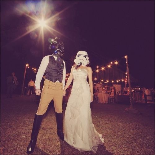 Pin By Hope On We All Deserve Happy Endings Star Wars Wedding Wedding Nerd Wedding