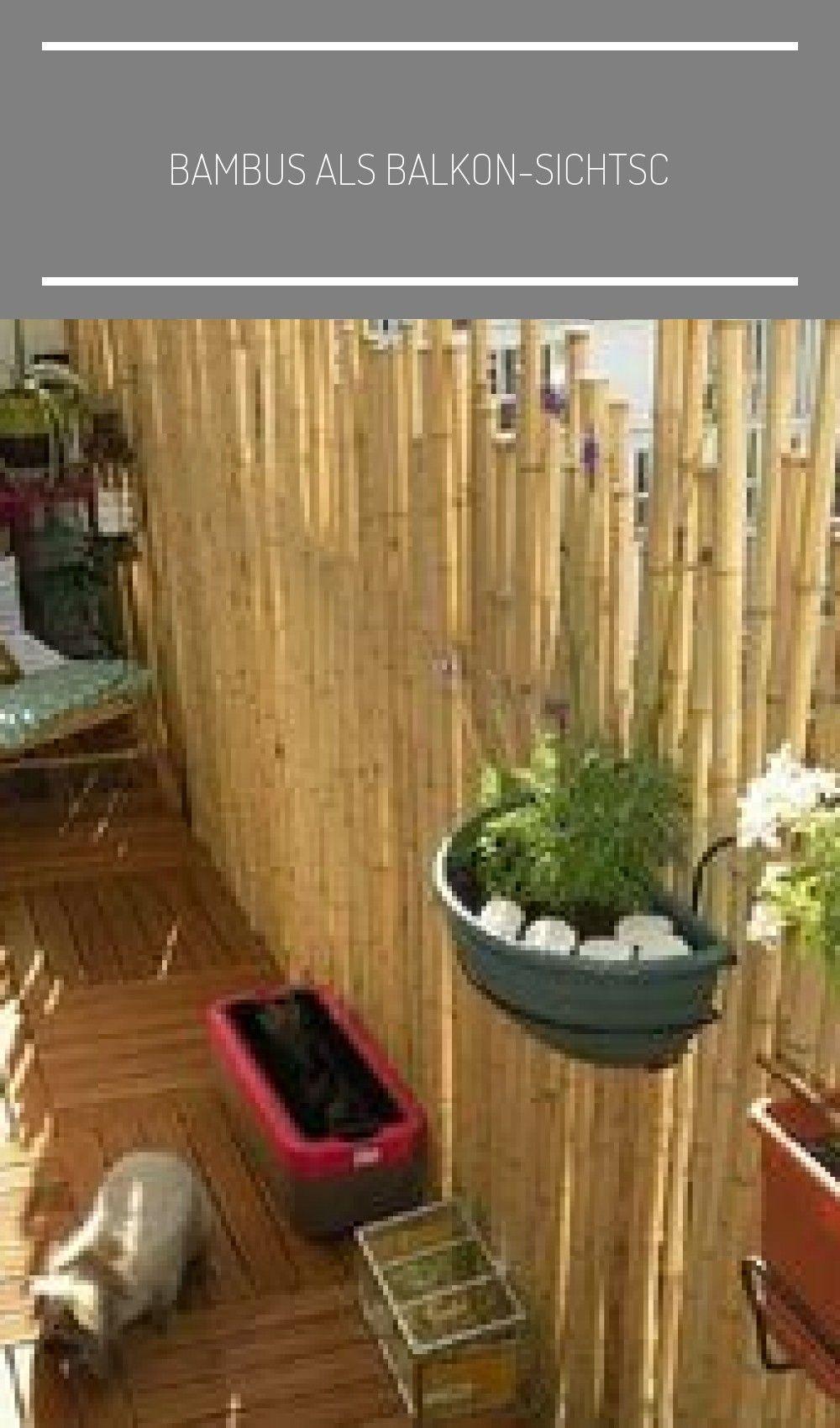 Bambus als BalkonSichtschutz Ideen mit Pflanzen, Matten