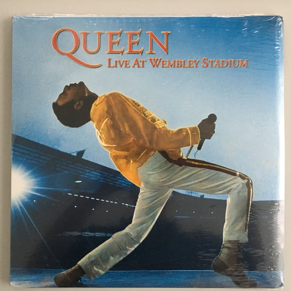 Freddie Mercury Poster Queen At Wembley New