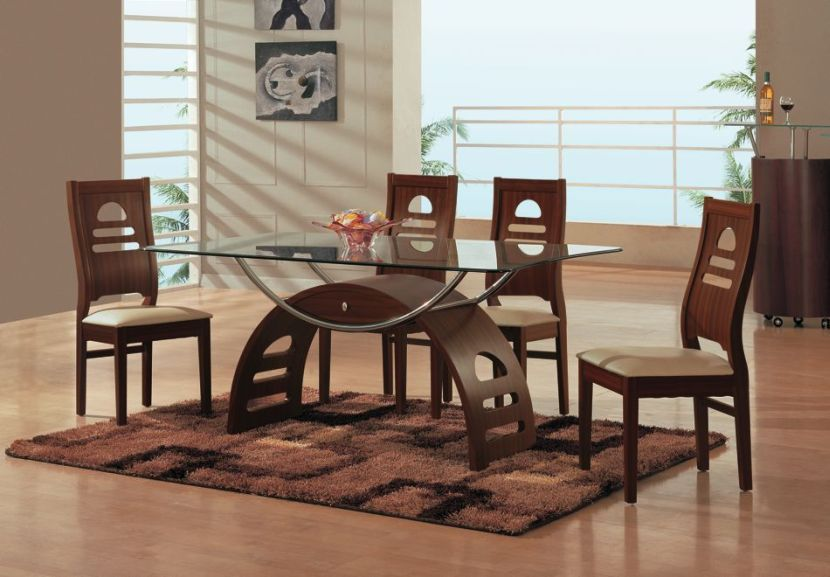 Exquisite Modern Glass Dining Tables With Antique Base Room Simple