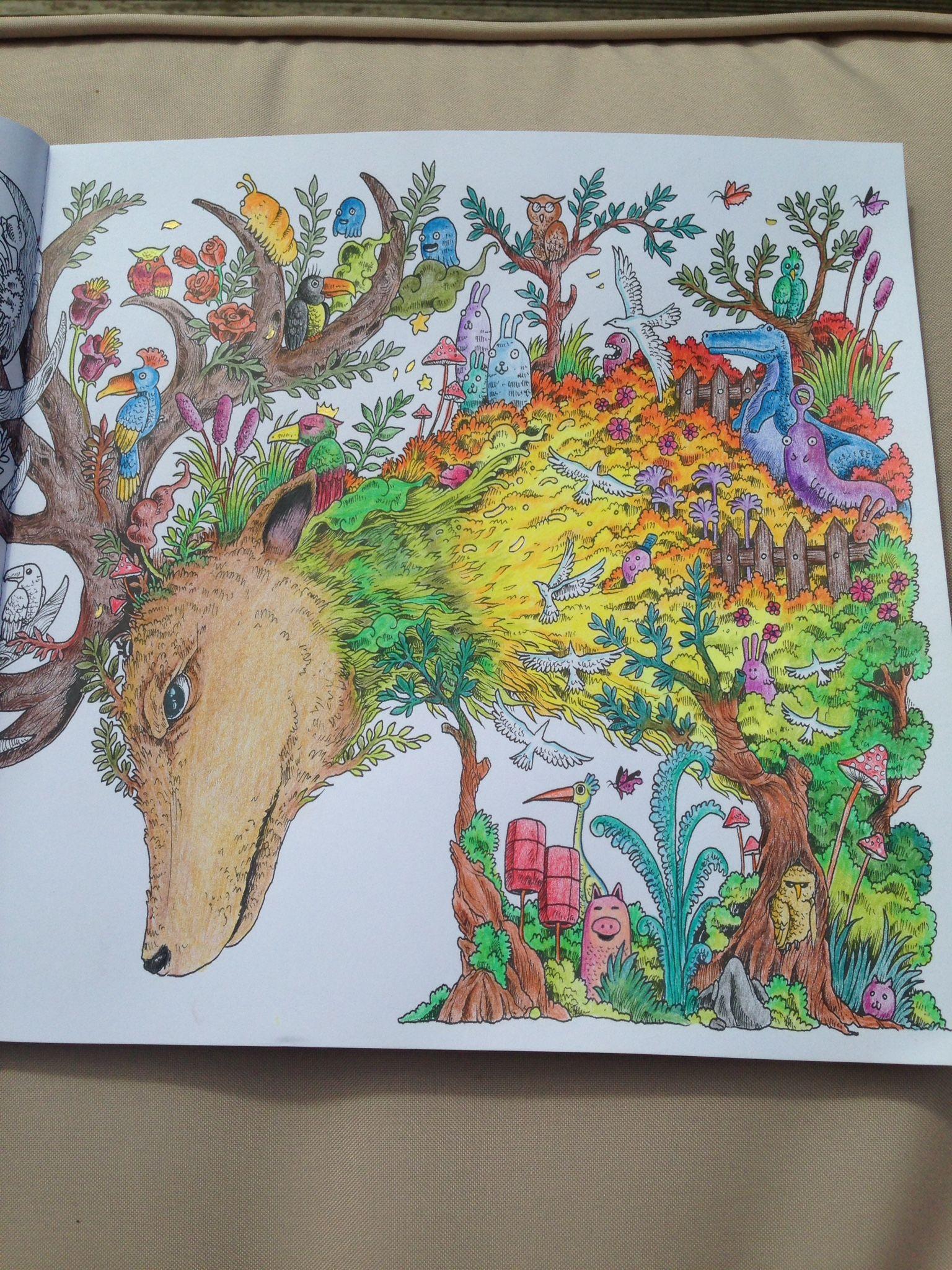 Dear Of Animorphia Colour ColourDoodle ArtColouringAdult ColoringColoring BooksFarveColored Pencil TutorialWatercoloursColored Pencils