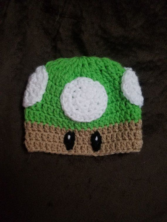 crochet super mario inspired mushroom hat 5b52b816fb5