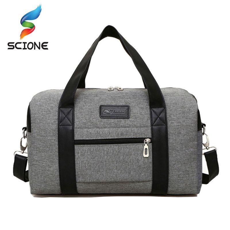 0b36caeb1b Hot Super Quality Canvas Outdoor Gym Bag Men Women Handbags Men Crossbody  Bag Men s Travel Bags
