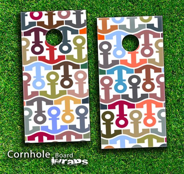 cornhole boards designs   ... Collage Skin-set for a pair of Cornhole Boards   Design Skinz, INC