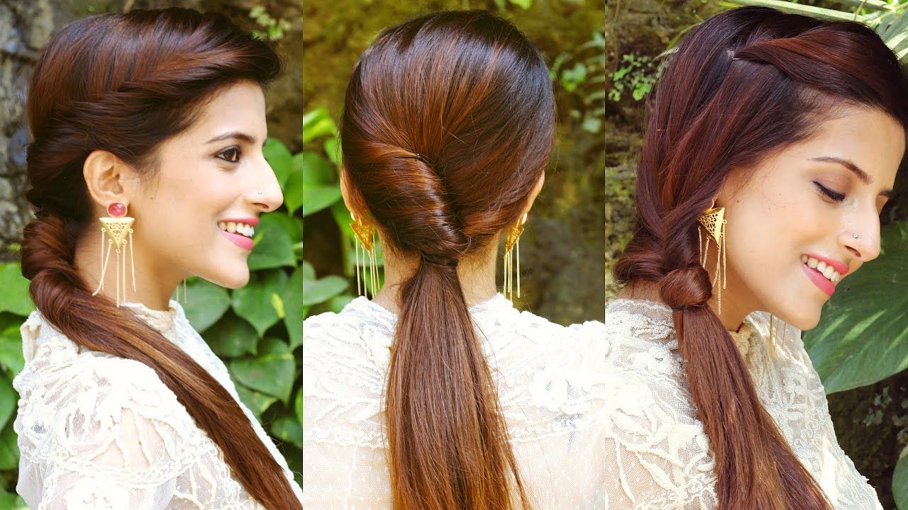 3 CUTE & EASY Ponytail Hairstyles For School, College, Work/ QUICK & EAS... (With images ...
