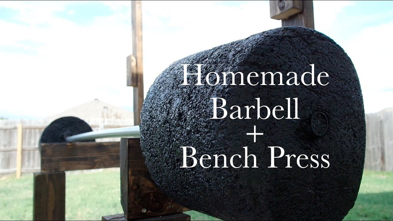How to Make Homemade Weights Barbell + Bench Press DIY